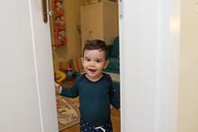 Baby Boy Inside House,opening ...