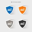 Web design of car service icon