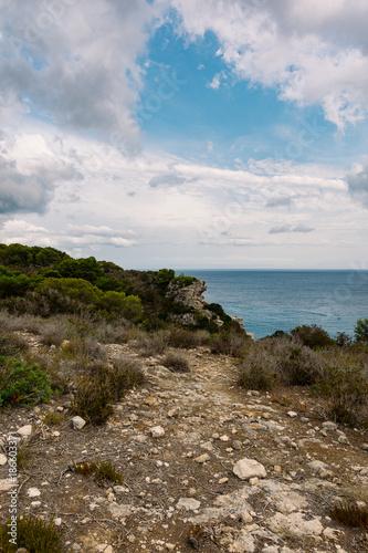 Foto op Plexiglas Cyprus Strand oder Küste am Mittelmeer