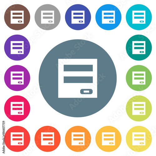 Fototapety, obrazy: Login panel flat white icons on round color backgrounds