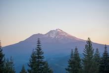 Mt Rainier At Twilight