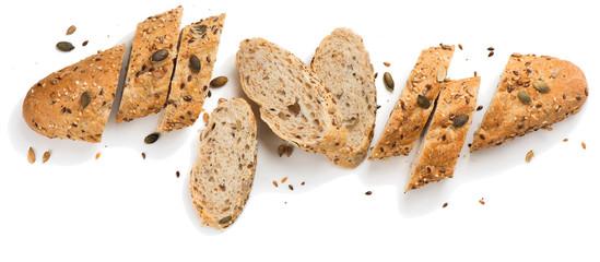 Žitni kruh sa sjemenkama. Iznad.