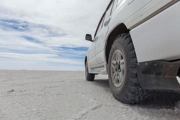 Fototapeta na wymiar the heart of the Salar de Uyuni salt marsh
