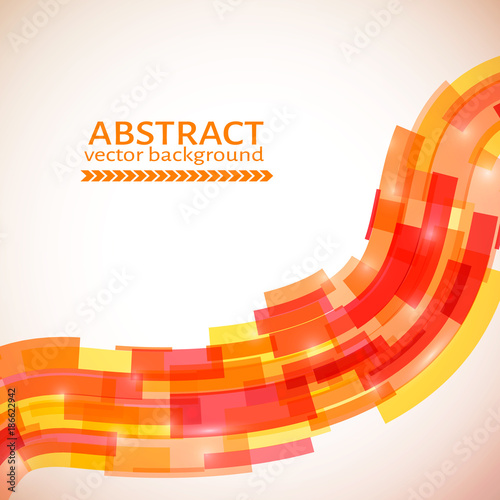 Red Orange And Yellow Abstract Wavy Background Technology