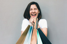 Young Happy Summer Shopping As...