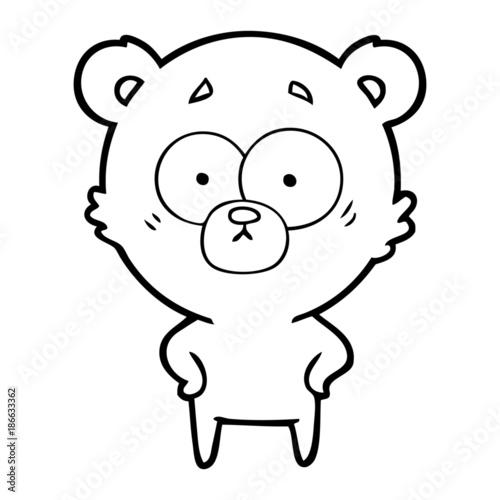 Fotografía surprised bear cartoon