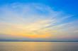 Nature sunrise with mountain background