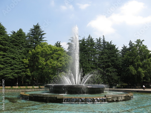 日比谷公園の大噴水 Fototapet
