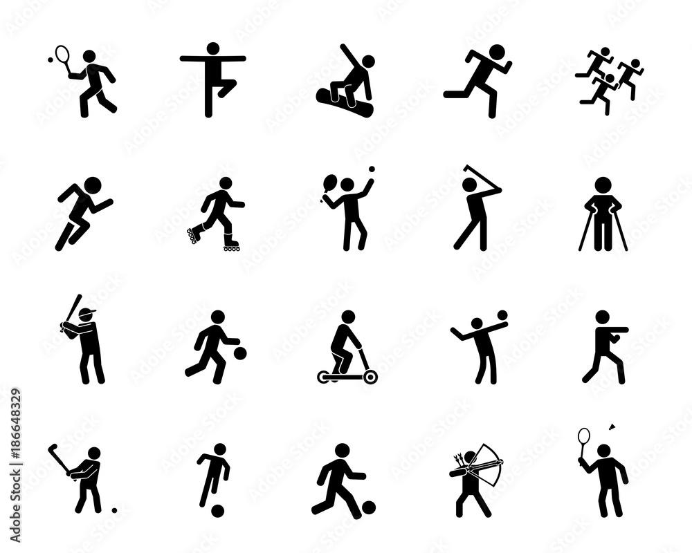 Zestaw ikon aktywności sportowej