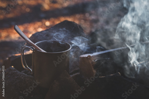 By the campfire Wallpaper Mural
