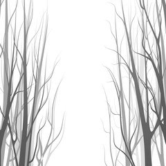 Background with forest, trees silhouette. Vector illustration.