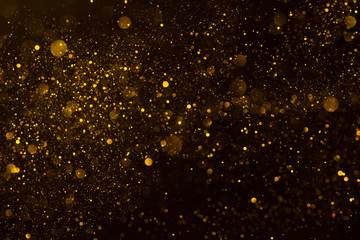 Golden stardust flow glitter shiny abstract background