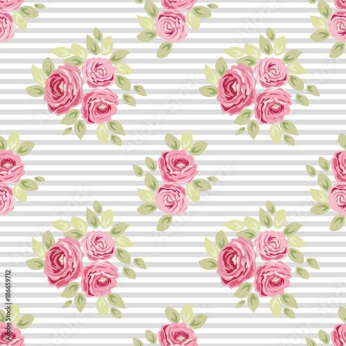 Tapety SHABBY-CHIC  sliczne-rocznika-bezszwowe-shabby-chic-kwiatowe-wzory-do-dekoracji