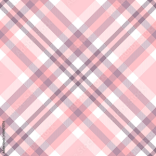 Plaid check pattern in shades of pink, purple and white. Canvas Print