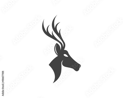 deer head logo design template buy this stock vector and explore