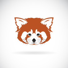 Vector Of Red Panda Head Desig...