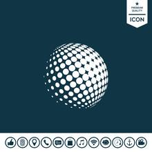 Earth Logo - Halftone Sphere