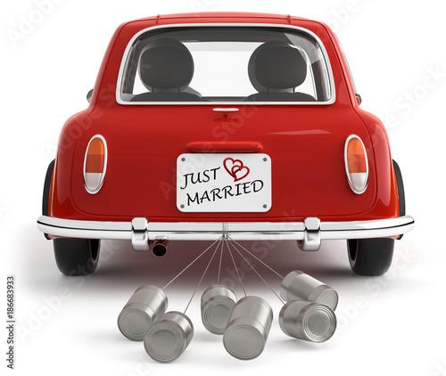 just married auto vorlage zum ausdrucken  paar married