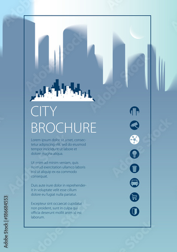 minimal city traveling tourist information brochure flyer cover