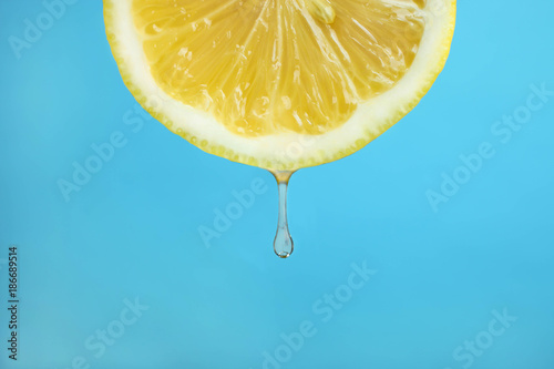 lemon with a drop