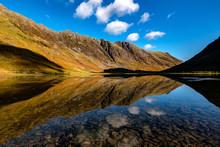 Aonach Eagach And Loch Achtriochtan, Glen Coe, Scottish Highlands