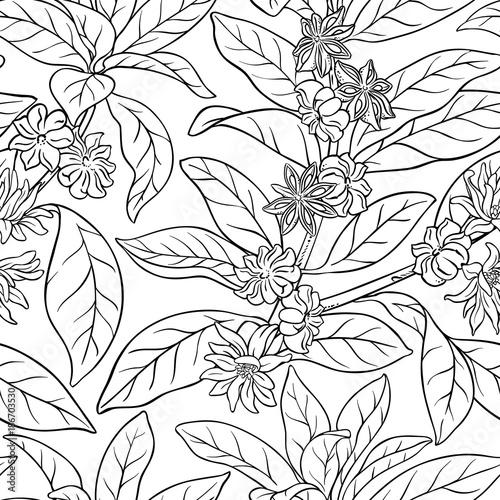anise seamless pattern Canvas Print