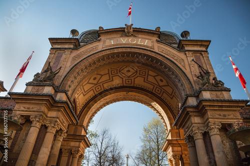 Copenhagen, Denmark - 30 Apr, 2017: The entry gate of Tivoli Gardens
