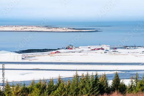 Valokuvatapetti Beautiful view of  Reykjavik winter in Iceland winter season