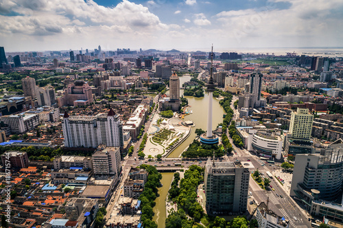 Foto op Plexiglas Xian a bird's eye view of Chinese city