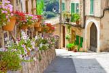 Fototapeta Fototapeta w kwiaty na ścianę - Malerisches Valldemossa auf Mallorca