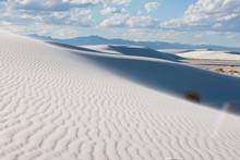 White Sands Desert National Monument Sand Dune Shaps At Tularosa Basin New Mexico, USA
