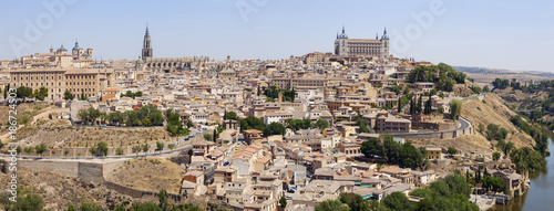 Spain, Castile-La Mancha, Panoramic view of Toledo