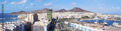 Spain, Canary Islands, Gran Canaria, Las Palmas in panoramic view