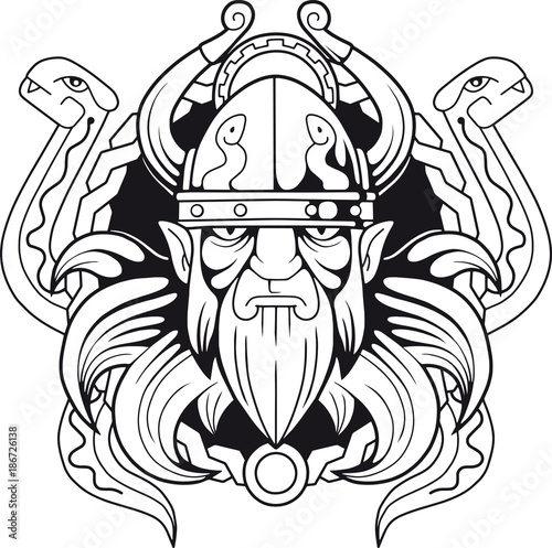 Photo  ancient Scandinavian god  of deception Loki