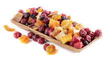 Dried Fruits Isolated On  Whit...