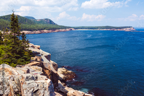Photo Otter Cliff and View toward Great Head. Acadia National Park.