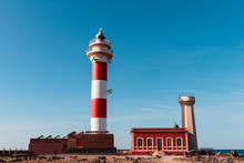 Lighthouse In The North Of Fuerteventura On Blue Sky