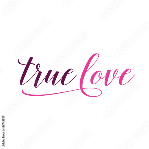 True Love Lettering Canvas Print