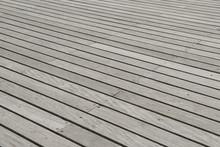 Wooden Plank Floor Of A Pier W...