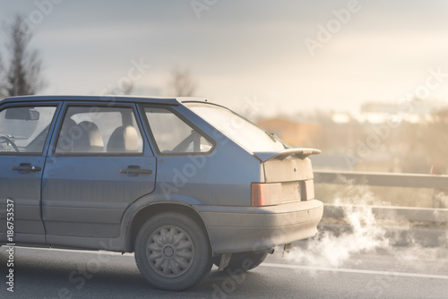 Car exhaust pipe, which comes out strongly of smoke   - Buy
