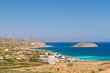 Mirabello Bay view with Spinalonga island on Crete, Greece