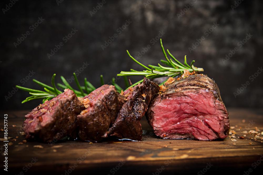 Fototapety, obrazy: Steak gegrillt