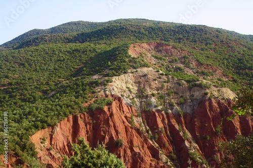 Foto op Plexiglas Bruin Montagne rouges ocres - Maroc