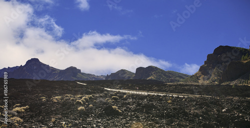 Fotobehang Aubergine Teide mountain in Tenerife. Canary Islands