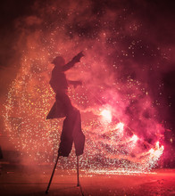 Fire Show Through The Streets ...