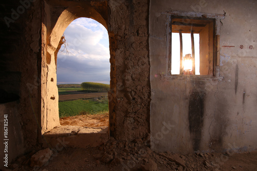 house in cave in village Remolinos, zaragoza spain