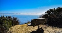 Bench Overlooking The Pacific ...