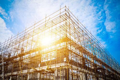 Obraz na płótnie construction silhouette