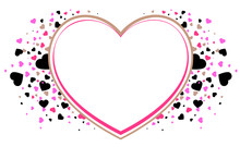 Heart Shape Frame Symbol Of Love. Valentines Day