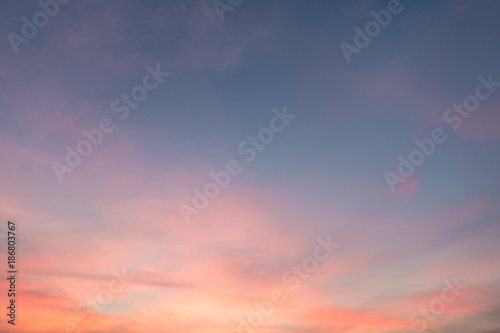 Fototapety, obrazy: sunset sky and cloud twilight scene background as golden hour